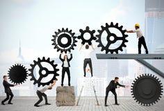 Trabalhos de equipa dos empresários