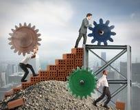 Trabalhos de equipa dos empresários Fotografia de Stock