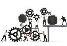 Trabalhos de equipa dos empresários Imagens de Stock