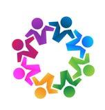 Trabalhos de equipa dos sócios comerciais do logotipo Imagens de Stock Royalty Free