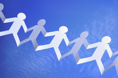 Trabalhos de equipa e coligação Imagem de Stock