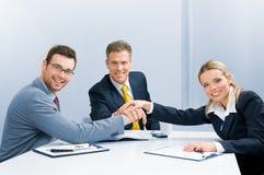 Trabalhos de equipa e cooperação Imagem de Stock Royalty Free