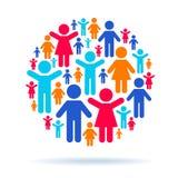 Trabalhos de equipa e interação social ilustração royalty free