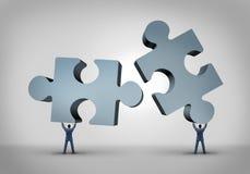 Trabalhos de equipa e liderança ilustração do vetor