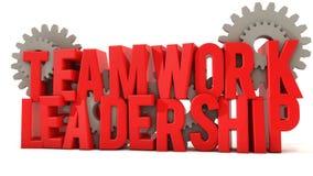 Trabalhos de equipa e liderança Imagens de Stock Royalty Free