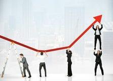 Trabalhos de equipa e lucro corporativo Fotografia de Stock