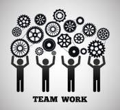 Trabalhos de equipa e projeto das engrenagens Foto de Stock Royalty Free