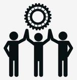 Trabalhos de equipa e projeto das engrenagens Foto de Stock