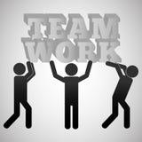 Trabalhos de equipa e projeto do pictograma Fotos de Stock Royalty Free