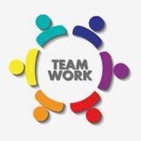 Trabalhos de equipa e projeto do pictograma Imagens de Stock Royalty Free