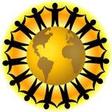 Trabalhos de equipa globais/eps Foto de Stock Royalty Free