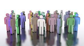 Trabalhos de equipa, ilustração 3d Foto de Stock