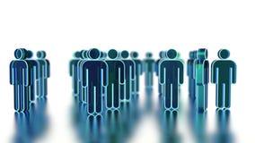 Trabalhos de equipa, ilustração 3d Imagem de Stock