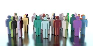 Trabalhos de equipa, ilustração 3d Imagens de Stock