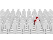 Trabalhos de equipa. imagem 3d. Imagem de Stock Royalty Free