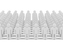Trabalhos de equipa. imagem 3d. Imagens de Stock