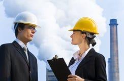 Trabalhos de equipa industriais Imagens de Stock Royalty Free