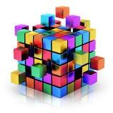 Trabalhos de equipa, Internet e comunicação do negócio concentrados Fotografia de Stock