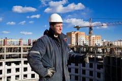 Trabalhos de equipa na construção Fotografia de Stock Royalty Free