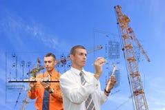 Trabalhos de equipa no projeto Imagem de Stock