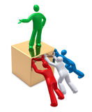 Trabalhos de equipa ou competição? ilustração do vetor