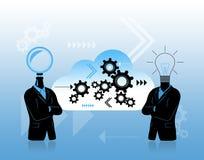 Trabalhos de equipa para o progresso e a resolução de problemas Imagens de Stock