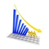 Trabalhos de equipa para parar a tendência de queda Imagem de Stock Royalty Free