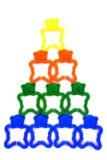 Trabalhos de equipa - pirâmide Imagem de Stock
