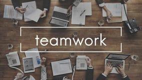 Trabalhos de equipa Team Collaboration Connection Unity Concept imagens de stock royalty free