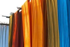Trabalhos de tingidura, Sanganer, Jaipur Foto de Stock