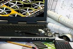 Trabalhos do CAD Fotos de Stock Royalty Free