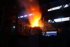 Trabalhos do ferro da fábrica de aço Imagens de Stock Royalty Free