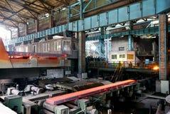 Trabalhos do ferro da fábrica de aço foto de stock