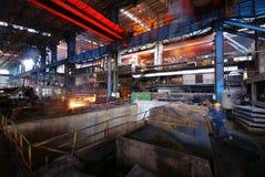 Trabalhos do ferro da fábrica de aço Imagens de Stock