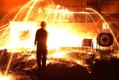 Trabalhos do ferro da fábrica de aço Foto de Stock Royalty Free