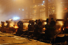 Trabalhos do ferro da fábrica de aço Imagem de Stock