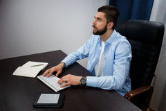 Trabalhos do homem de negócios Imagem de Stock Royalty Free
