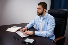 Trabalhos do homem de negócios Foto de Stock Royalty Free
