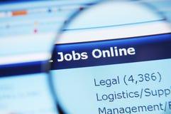 Trabalhos do Internet Imagens de Stock