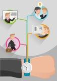 Trabalhos do negócio da gestão de tempo Ilustração do Vetor