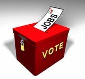 Trabalhos A do voto Ilustração Stock