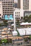 Trabalhos em curso em Union Square, San Francisco foto de stock royalty free