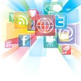 Trabalhos em rede abstratos do Social do fundo Imagem de Stock
