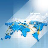Trabalhos em rede de comércio Imagens de Stock