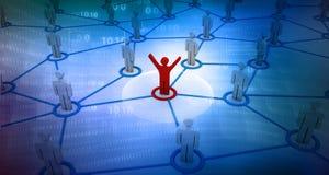 Trabalhos em rede do negócio Imagens de Stock Royalty Free