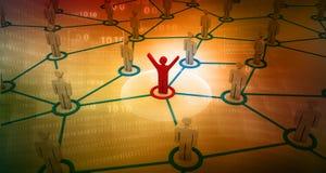 Trabalhos em rede do negócio Fotografia de Stock