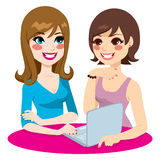 Trabalhos em rede do Social das mulheres ilustração stock