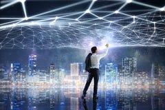 Trabalhos em rede e conexão do negócio Meios mistos Imagem de Stock Royalty Free