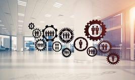 Trabalhos em rede e conexão sem fio como o conceito para o modo eficaz Foto de Stock Royalty Free