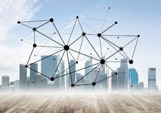 Trabalhos em rede e uma comunicação social como meios para a estratégia empresarial eficaz foto de stock royalty free